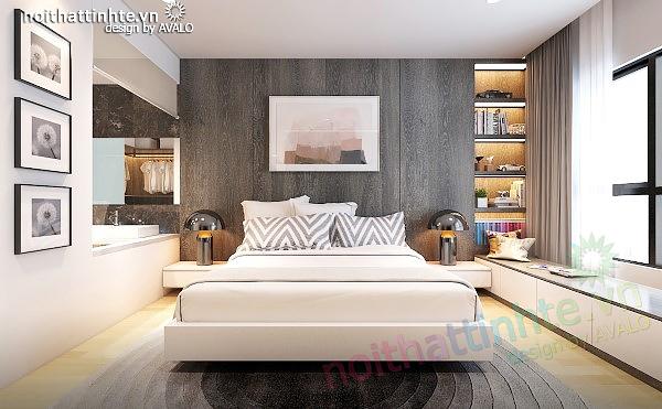 Phòng khách chung cư đẹp của căn hộ nhỏ ở Times city