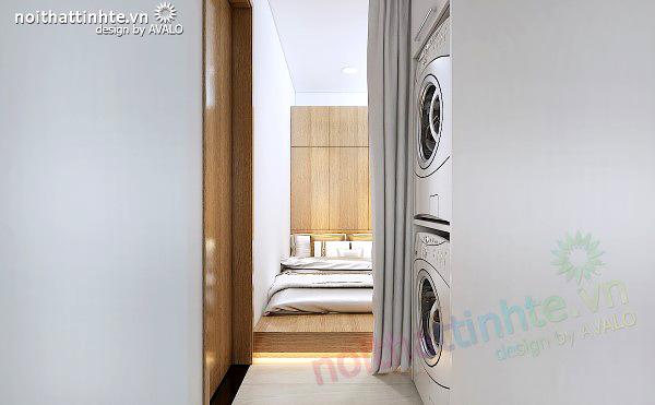 Phòng ngủ cho giúp việc thiết kế gọn gàng vừa phải