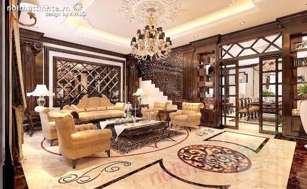 Thiết kế biệt thự Vinhomes Tân Cổ Điển thuần Việt
