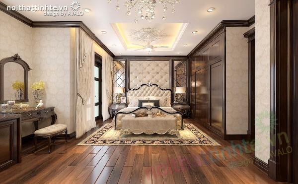 Thiết kế biệt thự Vinhomes Tân Cổ Điển thuần Việt - phòng Ngủ