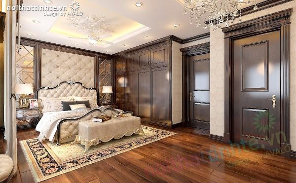 sofa chân giường trong nội thất Tân cổ điển