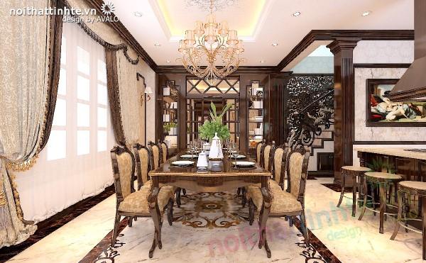 Thiết kế Biệt thự Vinhomes với phòng Ăn rộng