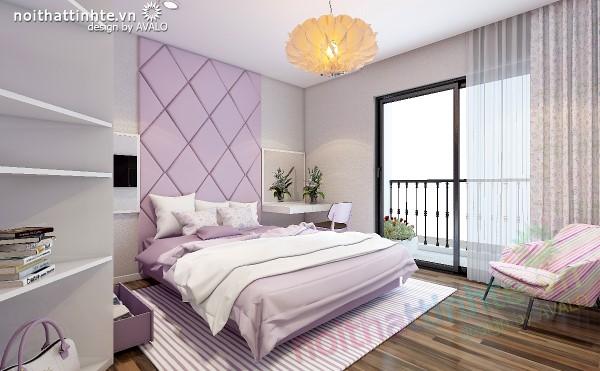 Thiết kế nội thất chung cư Times city Phòng ngủ con gái