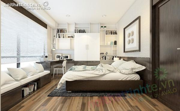 Thiết kế nội thất chung cư Times city Phòng ngủ con trai