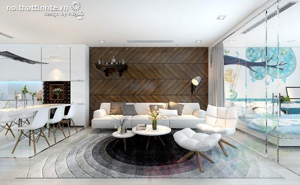 Căn hộ chung cư có thiết kế nội thất rất đẹp này thuộc dự án Vinhomes Nguyễn Chí Thanh