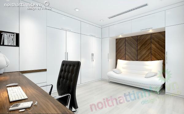 phòng ngủ được cải tạo thành phòng đa năng