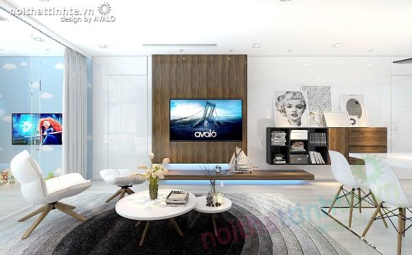 Vách tivi là một Design mang cái hồn của nghệ thuật Sắp Đặt