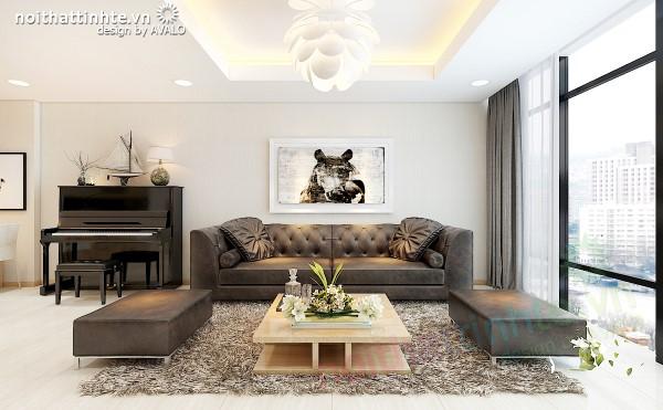 Thiết kế nội thất căn Hoàn Thiện ở Thăng Long no1