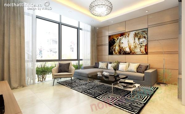 Thiết kế nhà phố đẹp hiện đại – anh Phong