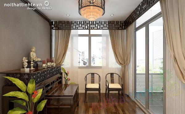 Thiết kế nội thất phòng Thờ trong nhà lô phố đẹp hiện đại - anh Phong