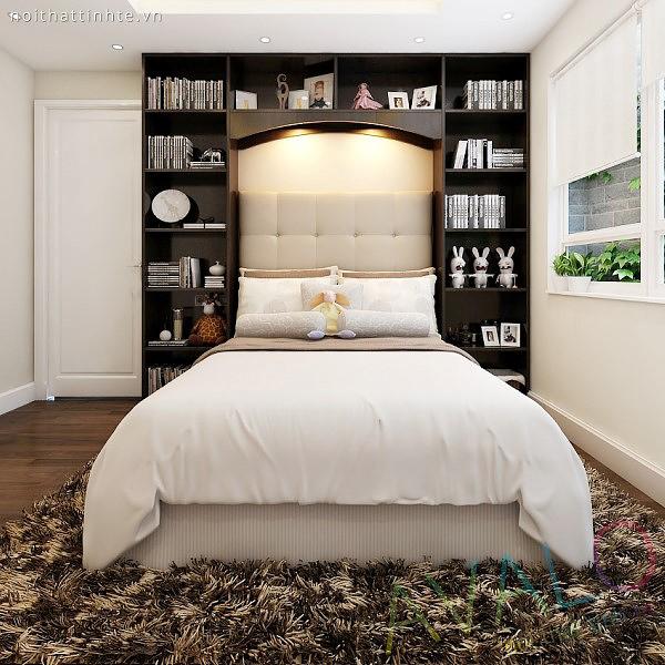 Avalo đưa ra mẫu thiết kế Giường ngủ có đầu giường là một hệ giá kệ có thể chứa được nhiều vật trưng bày