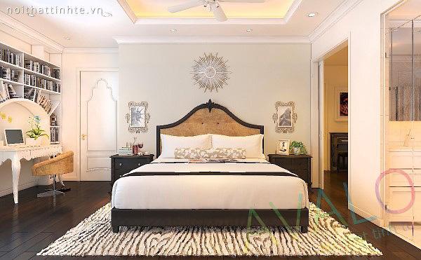 Giường ngủ đẹp lãng mạn cho chung cư tân cổ điển