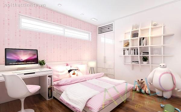 Nội thất nhà xinh 3 phòng ngủ