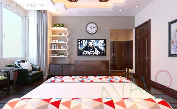 Nội thất phòng ngủ phong cách Á Đông Đương Đại