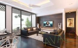 Phòng khách đẹp đương đại