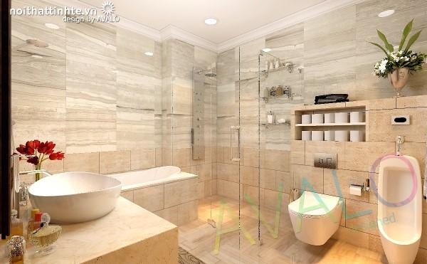 Thiết kế biệt thự cổ điển Á Đông nhưng nhà tắm không quá rườm rà