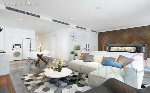 Thiết kế nội thất căn hộ studio Vinhomes với mong muốn gia chủ 9x được trải nghiệm không gian sống thoáng đãng 2