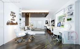 Thiết kế phòng ngủ đẹp ở biệt thự Bồ Đề