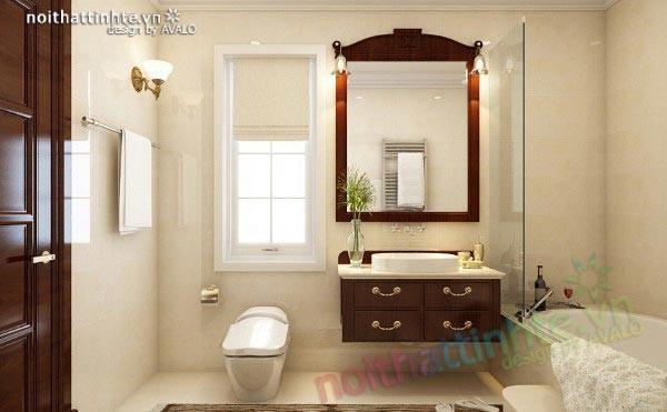 Nhà tắm đẹp thiết kế nội thất theo phong cách đơn giản tại Vinhome