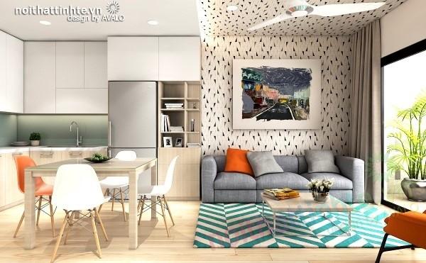 Thiết kế nội thất giá rẻ tại chung cư HH Linh Đàm