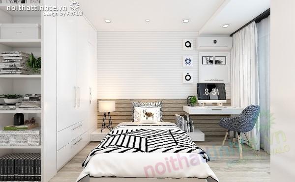 Phòng ngủ chung cư đẹp theo phong cách hiện đại tại No4