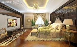 Phòng ngủ cổ điển Châu âu phong cách hoàng gia
