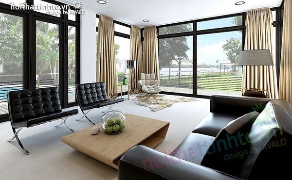 Thiết kế biệt thự sân vườn đẹp khu đô thị Thảo Điền