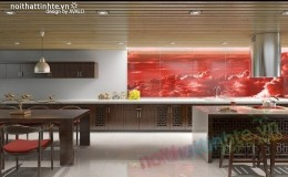 Thiết kế nội thất nhà bếp đẹp ở Làng Việt Kiểu châu Âu