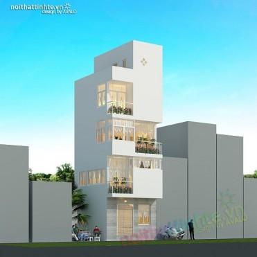 Thiết kế nhà đẹp diện tích nhỏ ở Ba Đình, Hà Nội
