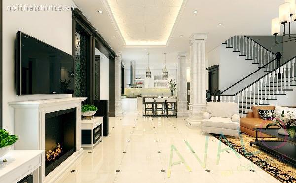 Thiết kế nội thất biệt thự đẹp 3 tầng